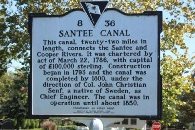 Santee Canal Marker image. Click for full size.