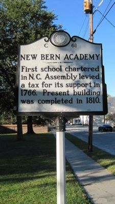 New Bern Academy Marker image. Click for full size.
