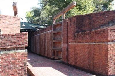 Santee Canal Lock...entrance to museum image. Click for full size.
