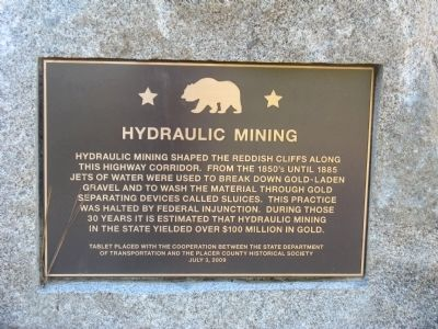 Hydraulic Mining Marker image. Click for full size.