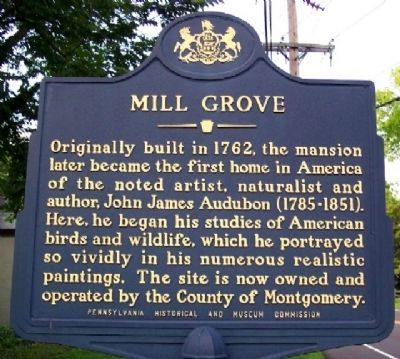 Mill Grove Marker image. Click for full size.