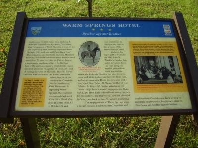 Warm Springs Hotel Marker image. Click for full size.