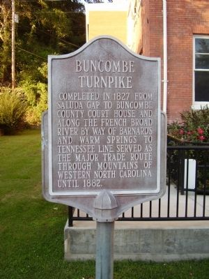 Buncombe Turnpike Marker image. Click for full size.