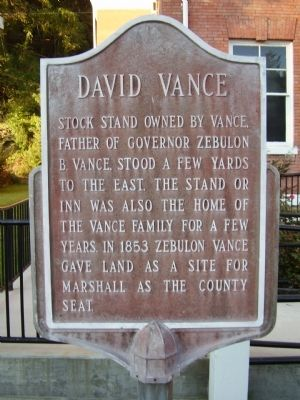 David Vance Marker image. Click for full size.