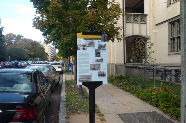 College Hill Marker -15th Street, NW, image. Click for full size.