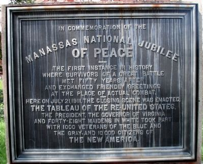 Manassas National Jubilee of Peace image. Click for full size.