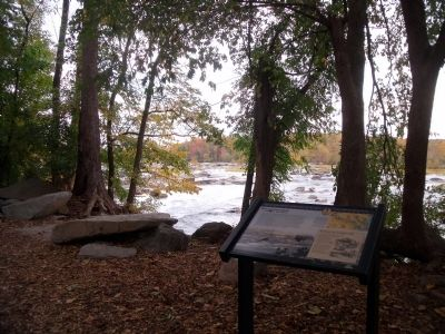 Pony Pasture Rapids facing upriver. image. Click for full size.