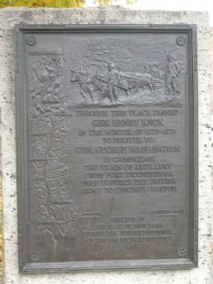 Gen. Henry Knox Trail Marker NY-17, Mechanicville, NY image. Click for full size.