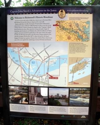 Welcome to Richmond's Historic Riverfront Marker image. Click for full size.