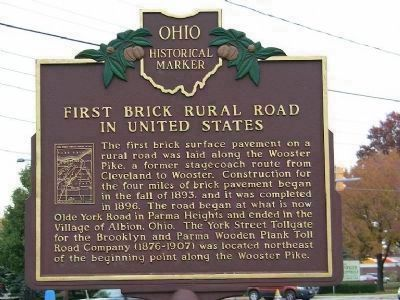 First Brick Rural Road in United States Marker </b>Side B image. Click for full size.