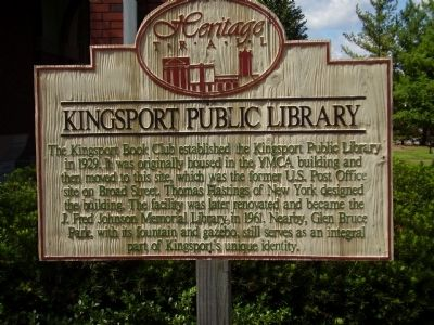 Kingsport Public Library Marker image. Click for full size.