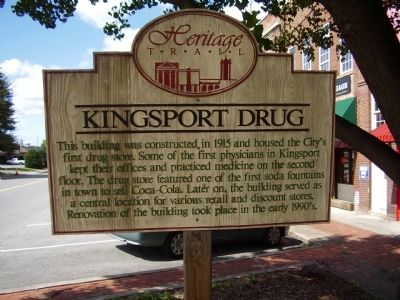 Kingsport Drug Marker image. Click for full size.