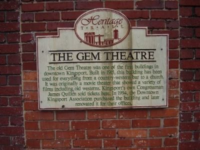 The Gem Theatre Marker image. Click for full size.