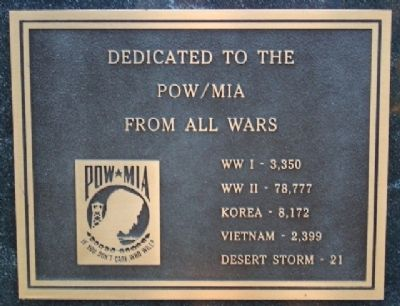 Phoenixville War Memorial POW/MIA Marker image. Click for full size.