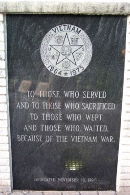 Phoenixville War Memorial Vietnam Marker image. Click for full size.