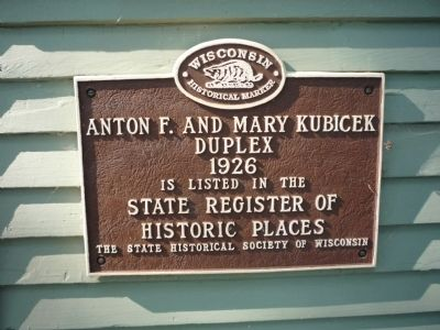 Anton F. and Mary Kubicek Duplex Marker image. Click for full size.