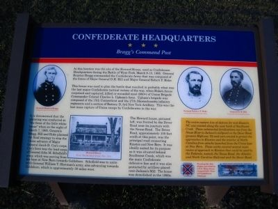 Confederate Headquarters Marker image. Click for full size.