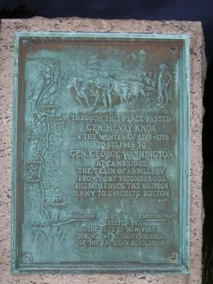 Gen. Henry Knox Trail Marker NY-25 Schodack, NY image. Click for full size.