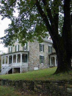 Prather House (ca. 1840) at Four Locks image. Click for full size.