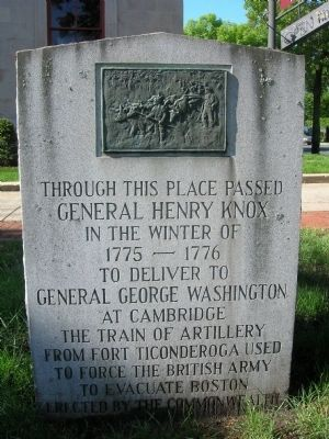 Gen. Henry Knox Trail Marker MA-7 Westfield, Mass. image. Click for full size.