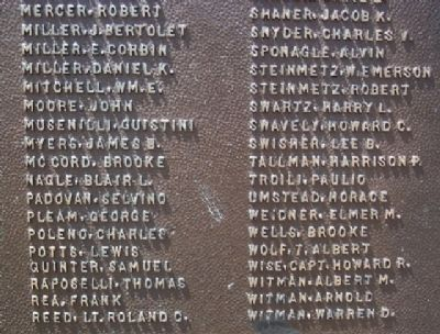 Birdsboro World War I Memorial Honor Roll image. Click for full size.