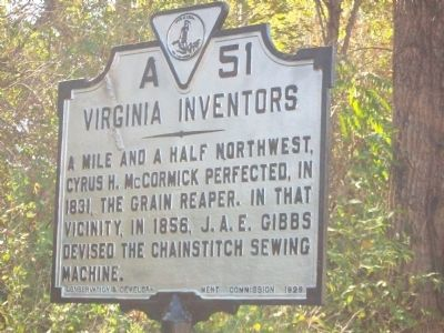 Virginia Inventors Marker image. Click for full size.