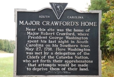 Major Crawford's Home Marker image. Click for full size.
