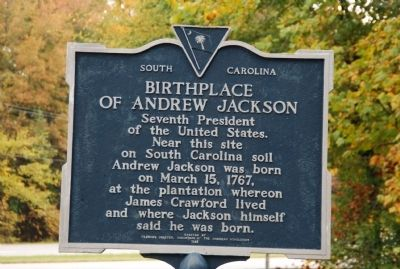 Birthplace of Andrew Jackson Marker image. Click for full size.