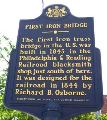 First Iron Bridge Marker image. Click for full size.