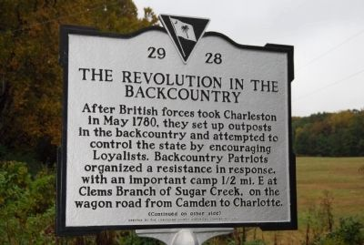 The Revolution in the Backcountry Marker image. Click for full size.