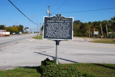 Barr's Tavern Site Marker image. Click for full size.