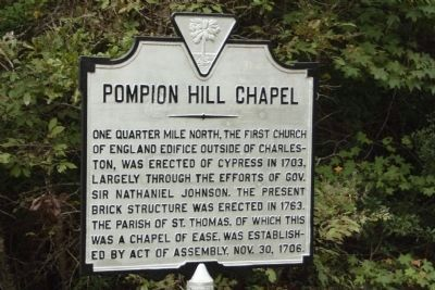 "Pompion Hill Chapel Marker, (Pronounced ""Punkin"") image. Click for full size."
