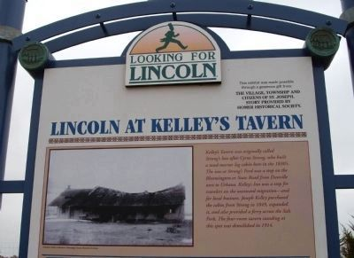 Top Section - - Lincoln at Kelley's Tavern Marker image. Click for full size.