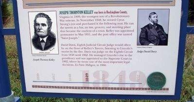 Bottom Section - - Lincoln at Kelley's Tavern Marker image. Click for full size.