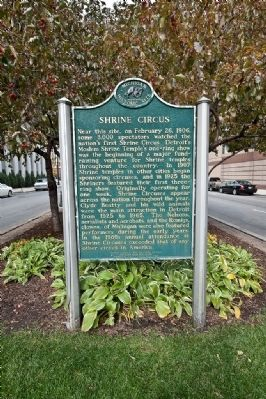 Shrine Circus Marker image. Click for full size.