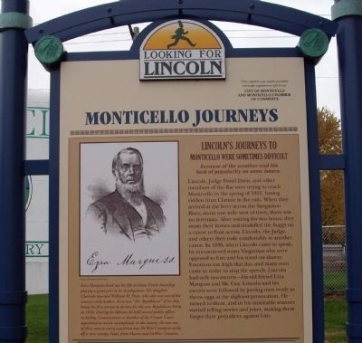 Top Section - - Monticello Journeys Marker image. Click for full size.