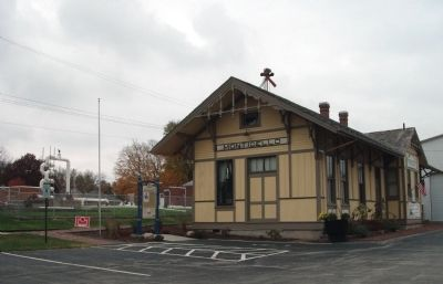 "Long View - - Monticello Journeys Marker & ""Wabash Depot"" Museum image. Click for full size."