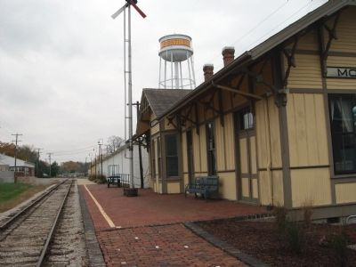 "Looking East - - Tracks of ""Wabash Depot"" Museum image. Click for full size."
