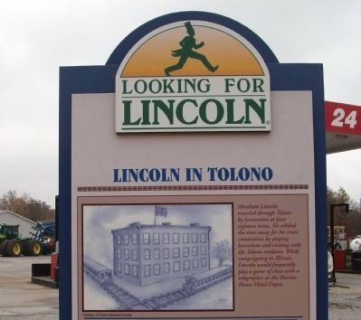 Top Section - - Lincoln in Tolono Marker image. Click for full size.