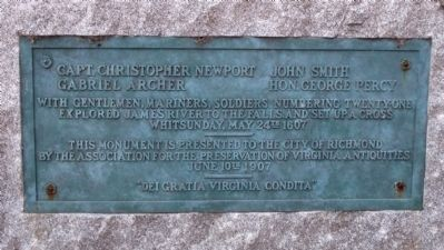 Christopher Newport Monument Marker image. Click for full size.