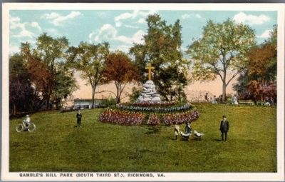 Gamble's Hill Monument, (South Third St.), Richmond, Va. image. Click for full size.