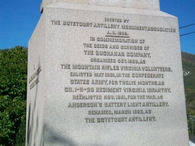 The Botetourt Artillery Marker image. Click for full size.