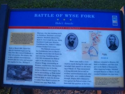 Battle of Wyse Fork Marker image. Click for full size.