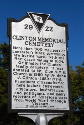 Clinton Memorial Cemetery / Isom C. Clinton Marker image. Click for full size.