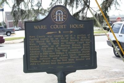 Ware Court House Marker image. Click for full size.