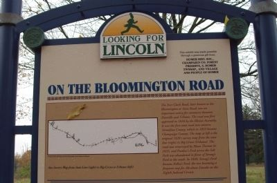 Top Section - - On The Bloomington Road / Marker - Side image. Click for full size.