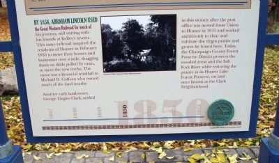 Bottom Section - - The Clark Neighborhood / Marker - Side image. Click for full size.