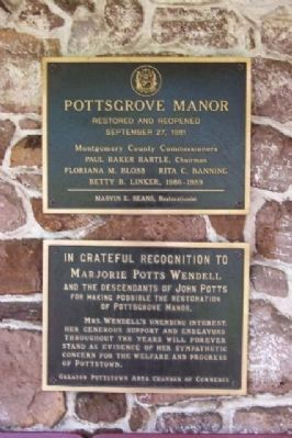 Pottsgrove Manor Recognition Marker image. Click for full size.