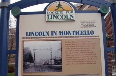Top Section - - Lincoln in Monticello Marker image. Click for full size.