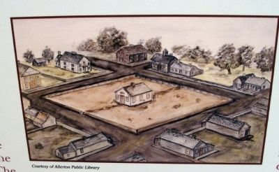 "Close-up Photo - - ""Water-color"" of Second Courthouse - 1856-1903 image. Click for full size."